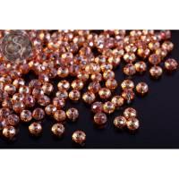 20 Stk. orange facettierte abakusförmige Electroplate Glasperlen 3mm Bild 1