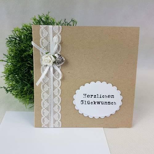 Glückwunschkarte Hochzeit VINTAGE