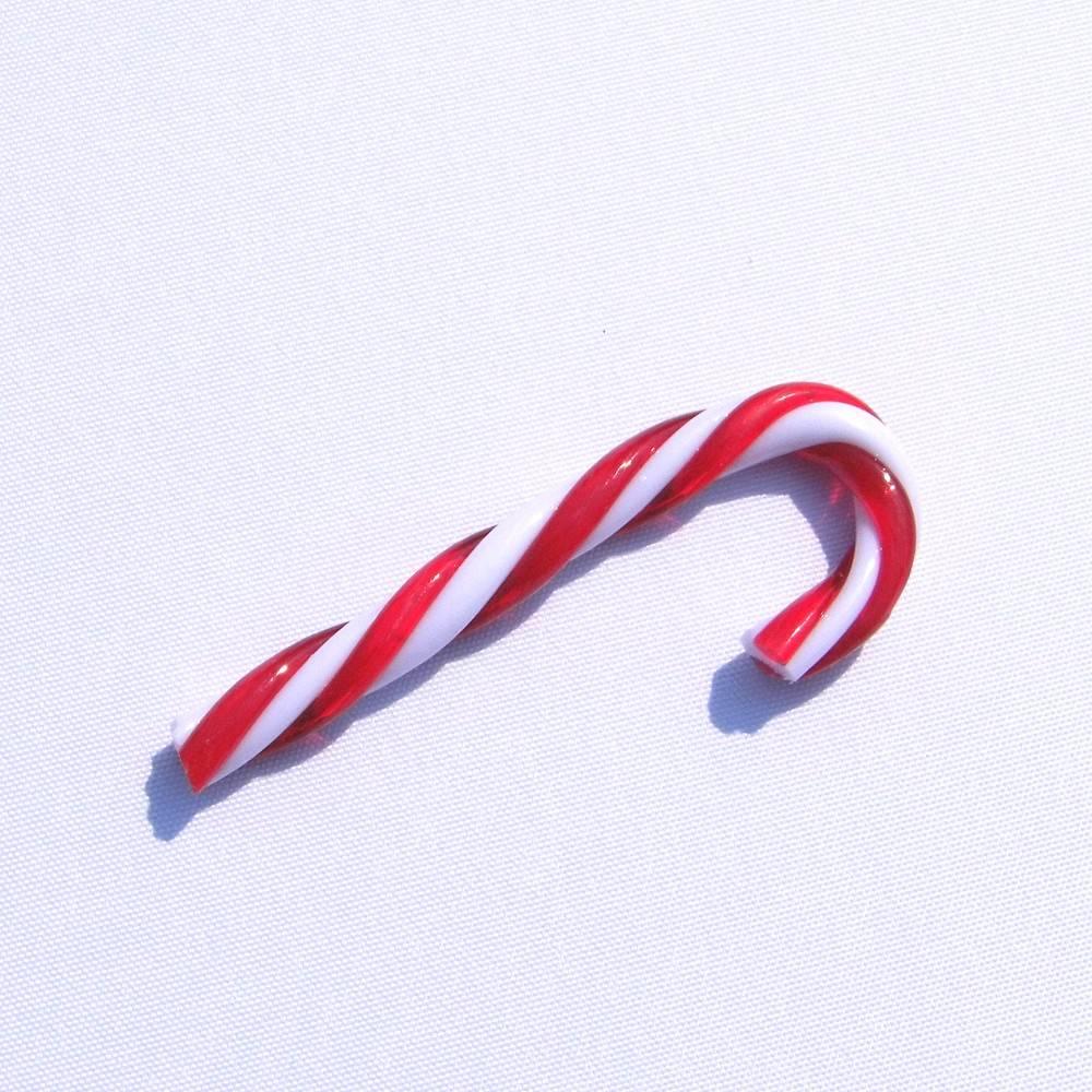 Weihnachtsdeko Zuckerstange aus Kunststoff Bastelmaterial Floristikdeko Bild 1