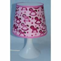 Bunter Lampenschirm, Mädchen, Kinderzimmer, Schaukelpferd, Sternchen, rosa, pink, Lampenhülle für Lampan, Ikea Lampe30-03 Bild 1