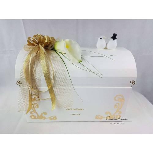 Briefbox Geschenkbox Truhe CALLA GOLD Hochzeit