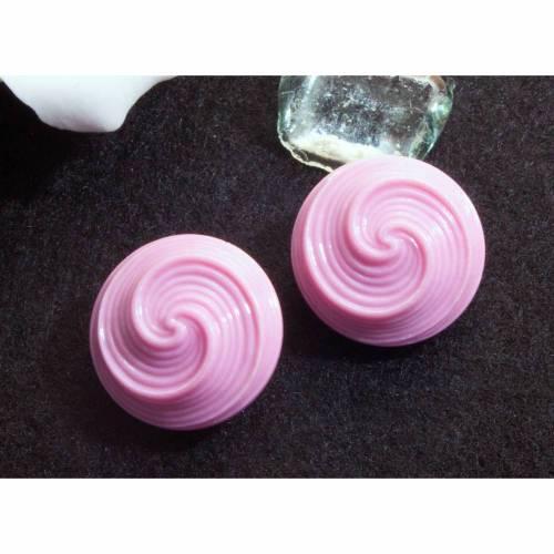 Ohrclips rosa, pink, 60er, 70er, Clips, Ohrringe, Vintage Ohrschmuck, Trödel Dings da