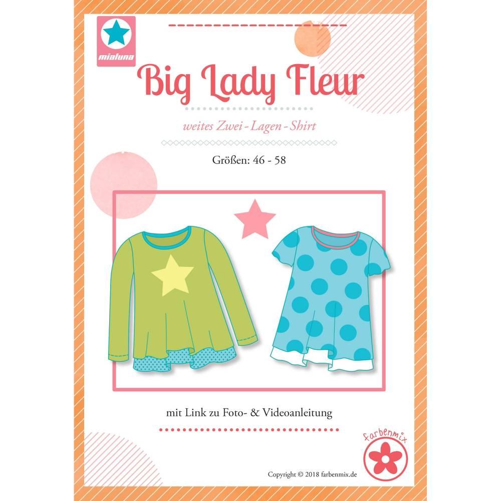 Mialuna-Schnittmuster Big Lady Fleur, Plus-Size-Damenshirt Bild 1