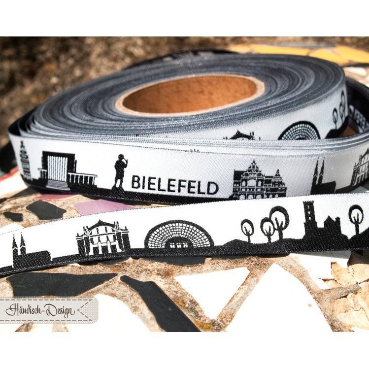 5m Bielefeld Skyline Webband schwarz/weiß Bild 1