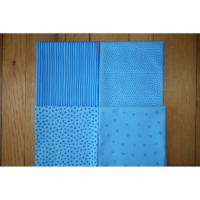 Westfalenstoffe Fat Quarter Stoffpaket Junge Linie blau kbA