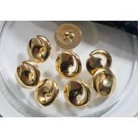 8 Knöpfe 15mm goldfarben, 50er, 60er Jahre, Kunststoffknöpfe, Vintage Knöpfe, alte Knöpfe, Trödel Dings da Bild 1