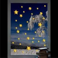 Sterne gemischt - Fenstertattoo Set - Weihnachten - Sternchen - Fensterschmuck - Fensteraufkleber - Winter Bild 1
