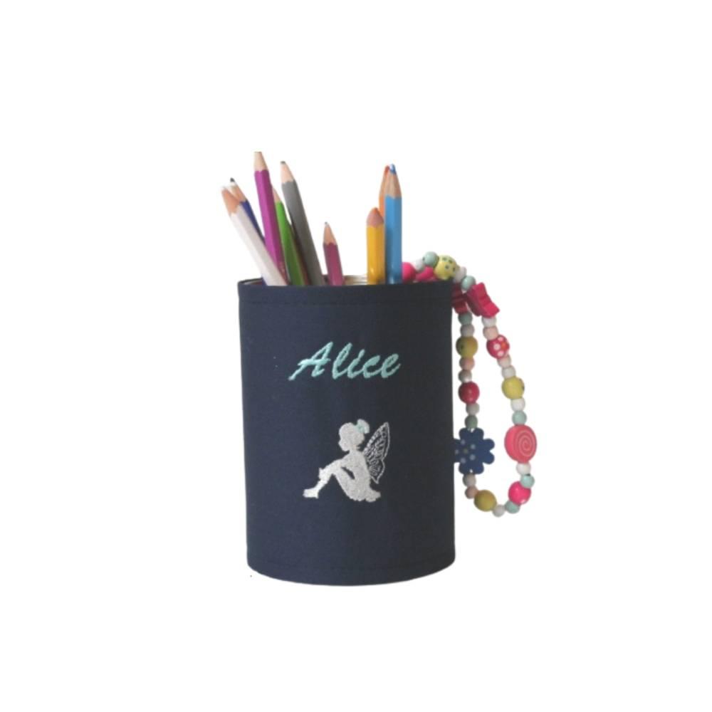Personalisierte Stiftebox in Wunschfarben mit Motiv: Fee, Elfe Bild 1