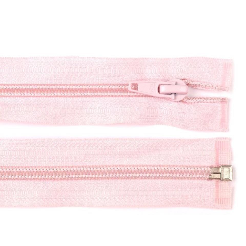 Reissverschluss teilbar 70cm rosa Bild 1