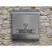 Stripe 06  - Briefkastentattoo in Wunschfarbe - Adressaufkleber individualisierbar und selbstklebend Bild 1