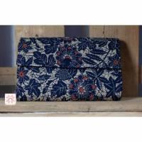 Geldbörse, Blumen-Motiv, dunkelblau Bild 1