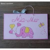 Namensschild Gastgeschenk Türschild Kinderzimmerschild Geburtsgeschenk  Bild 1