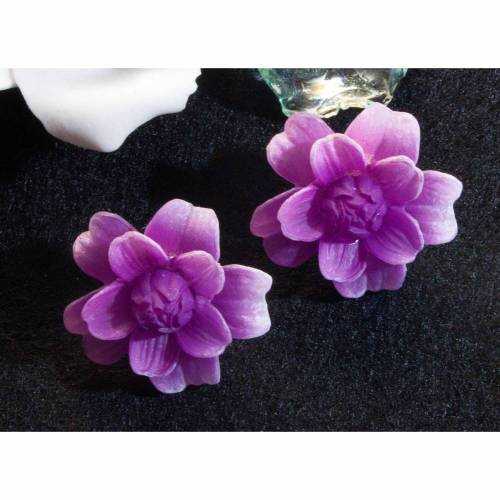 Vintage Ohrclips 50er, 60er Jahre, Blumen, pink, rosa, Ohrschmuck, Rockabilly, Vintage Hochzeit, Blumen Ohrclips, Trödel Dings da,