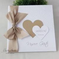 Gästebuch SWIRL TAUPE Hochzeit personalisiert Bild 1