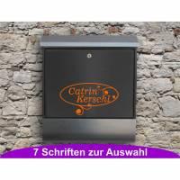Ornament 01 - Briefkastentattoo in Wunschfarbe und -schrift - Adressaufkleber individualisierbar und selbstklebend Bild 1