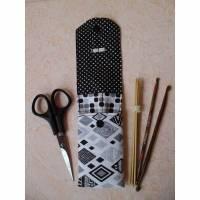 Nadeltasche für die Reise, für Nadelspiele, für 15cm lange Socken- Nadeln , Avec Moi, Nadeletui,  Bild 1