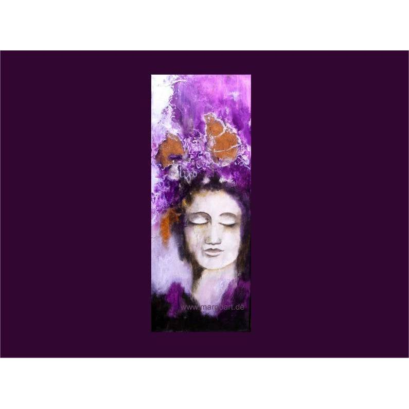 Frauenportrait mixed media Acrylgemälde abstrakt Original Bild 1