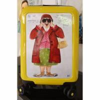 """Koffer ( Trolley) """"Hab mich umgesehen....bin die geislte hier"""" Bild 1"""