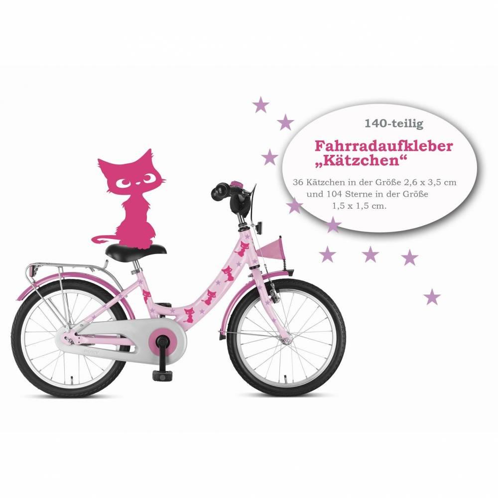 "Fahrradaufkleber ""Kätzchen"" 140-teilig, wasserfeste Sticker, Tattoo Bild 1"