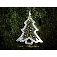 Handgeklöppelter Tannenbaum im LED Leuchtrahmen Weihnachtsbaum Weihnachstsdeko Bild 1