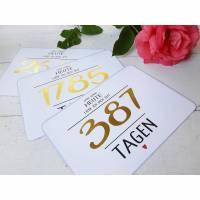 Valentinstag Karte Liebe individualisierbar, gold, Jahrestag, Liebeserklärung, Jubiläum