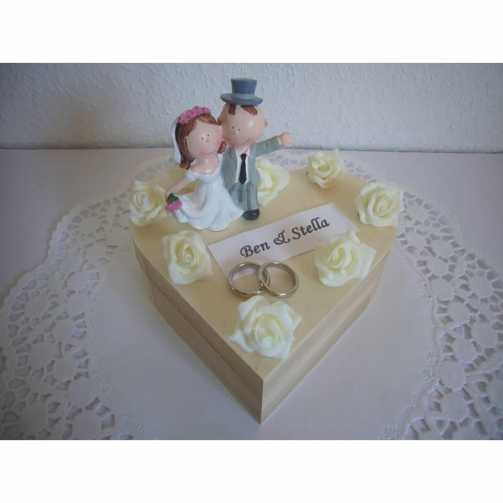 Geldgeschenk Hochzeit Herz Hochzeitsgeschenk Schatulle Brautpaar Bild 1