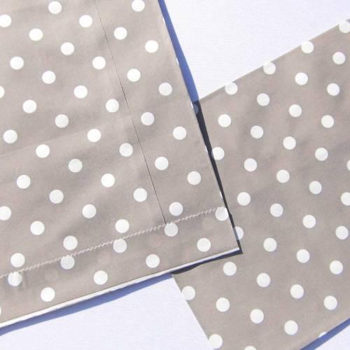 Papiertüten grau weiß Tüten gepunktet Mitgebseltüten Tütchen Geschenkverpackung