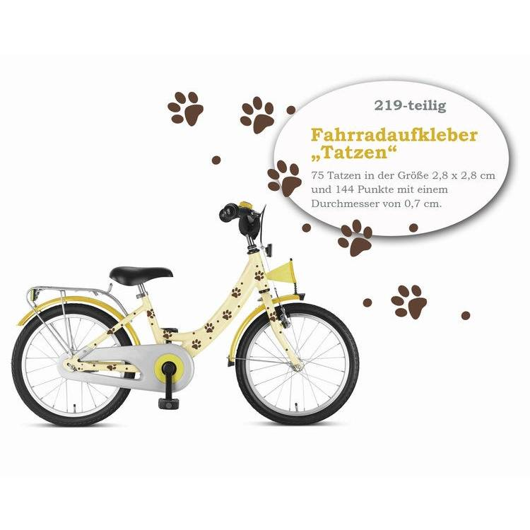 "Fahrradaufkleber Fahrradtattoos ""Tatzen"" 219-teilig, Fahrradsticker, wasserfest Bild 1"