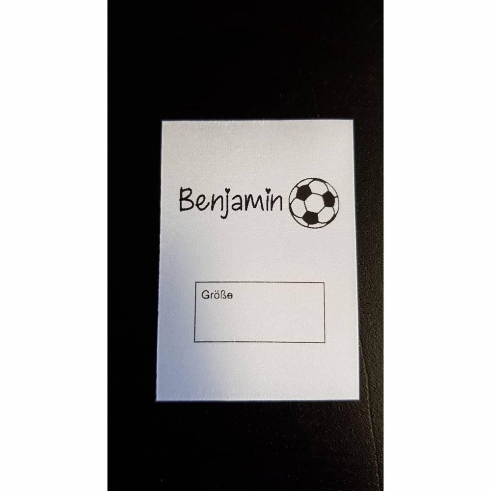 Textiletiketten Fußball Bild 1