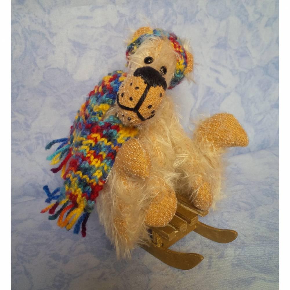 Bär Filou, Künstlerbär, handgefertigt 13cm Bild 1