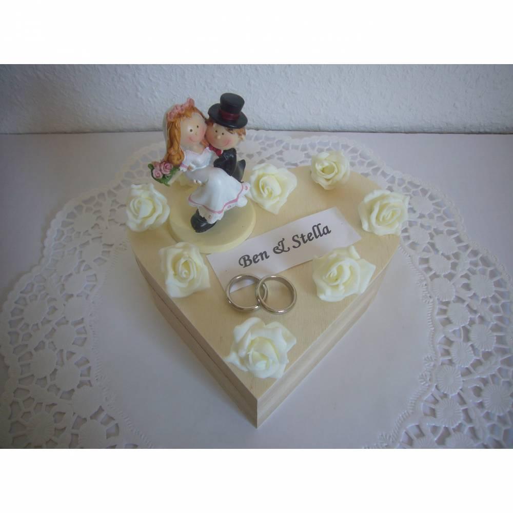 Geldgeschenk Hochzeit Herz Geschenkbox Schatulle Ringe Bild 1