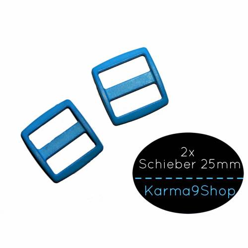 2 Schieber / Stopper 25mm hellblau #36