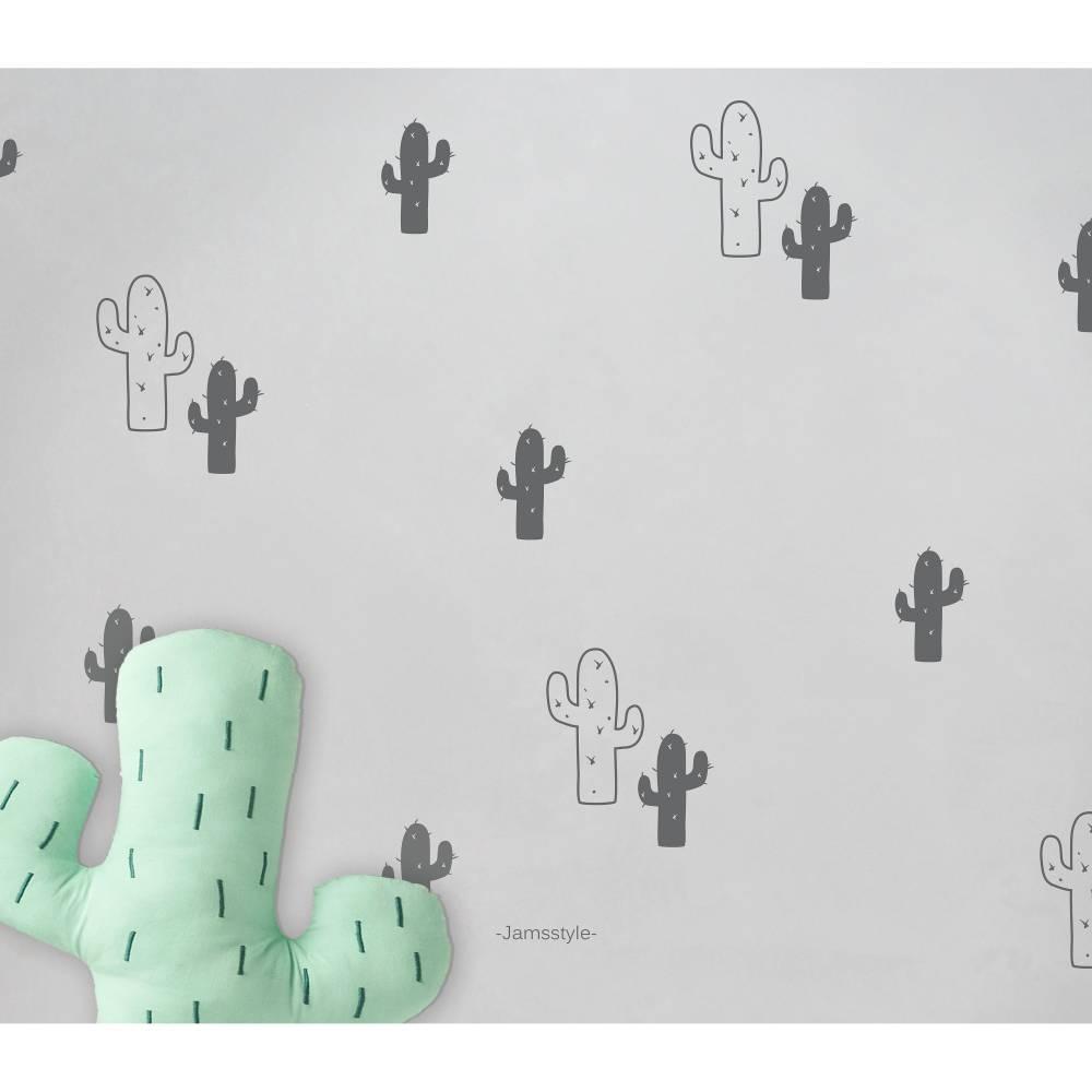 "Wandtattoo, Wandsticker ""Kaktus-Set"" Kakteen 2 Größen Bild 1"
