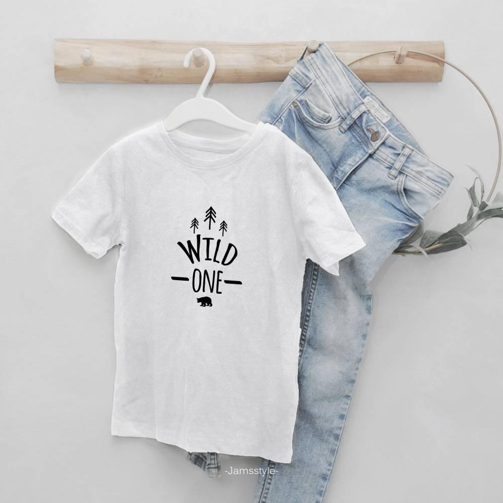 """Bügelbild aus Flexfolie """"wild one"""" zum Aufbügeln auf Kleidung & Accessoires Bild 1"""