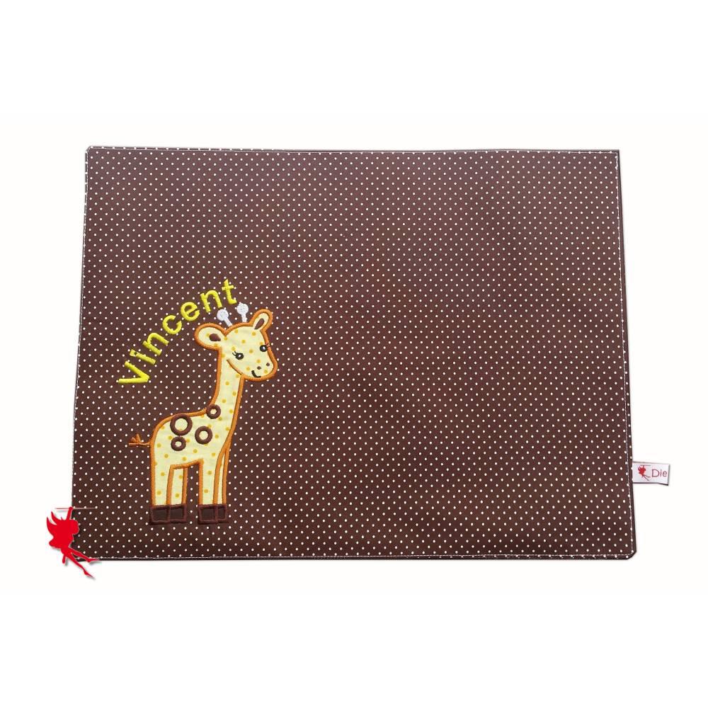 Giraffe Platzdeckchen Platzset Tischset Kinder Bild 1