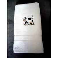 Handtuch-Gästehandtuch bestickt mit einer Kuh Bild 1
