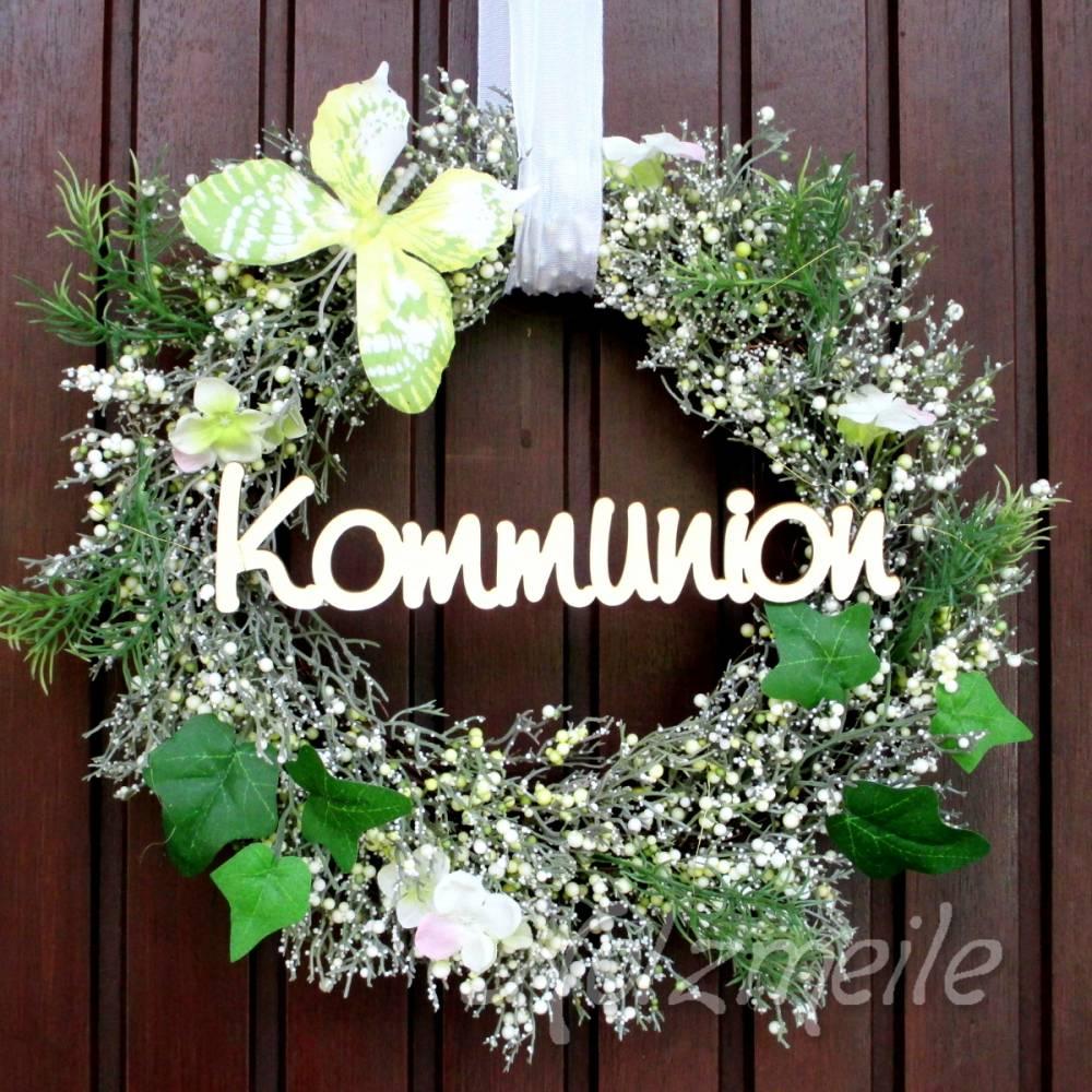 """Holz-Schriftzug """"Kommunion"""" Bild 1"""