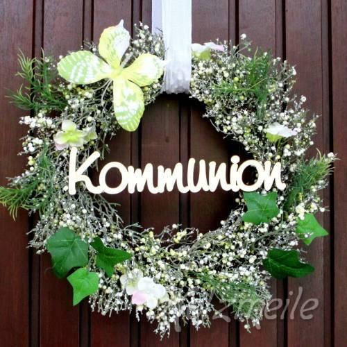 """Holz-Schriftzug """"Kommunion"""""""