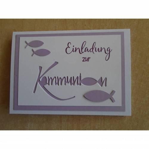 Einladungskarten zur  Kommunion , Einladungskarte,Fisch,Einladung,Einladungen,Mädchen,Junge,