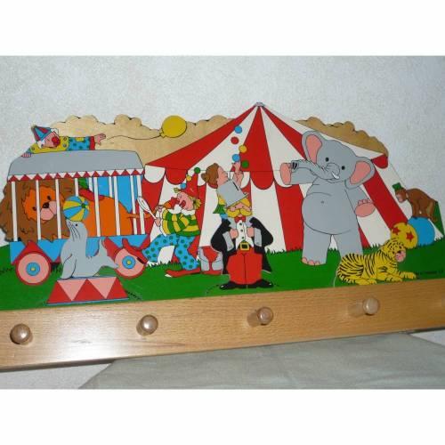 Kindergarderobe 3D KInderzimmer Hakenleiste Holzgarderobe vintage floresia
