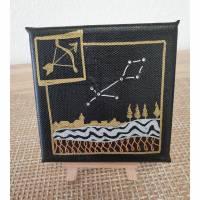 Sternzeichen Schütze, Acrylmalerei auf Minikeilrahmen Bild 1