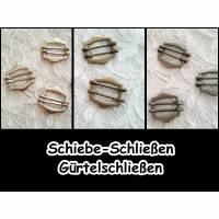Schiebe-Schließe - Latzhosen-Verschluss - Schiebe-Schnalle - Gurtversteller - Taschenverschluss - Schnalle 5-1022 Bild 1