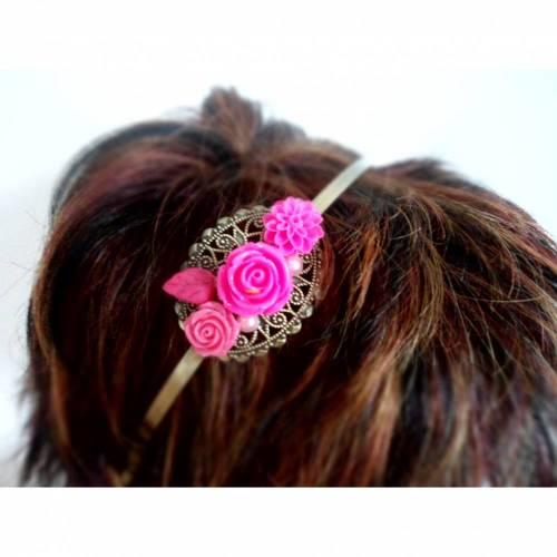 verzierter Haarreif, Vintage-Stil, Haarreifen, Cabochon, Blume, Haarschmuck,Hochzeit, Fest, Kommunion