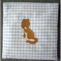 Kinder- Baby- Dinkelkissen- bestickt Bild 1