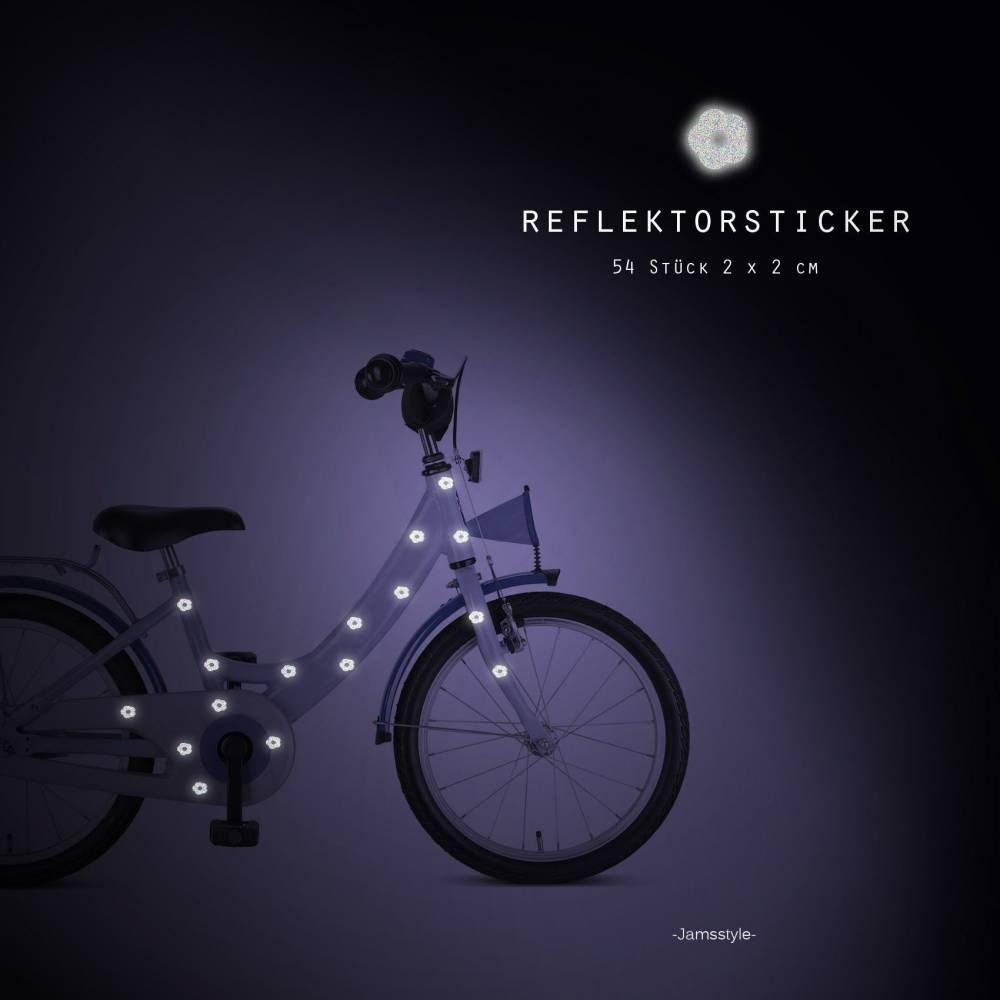 """Reflektor Fahrradtattoos Blumen"""" flower,  reflektierende Fahrradaufkleber, wasserfest Bild 1"""