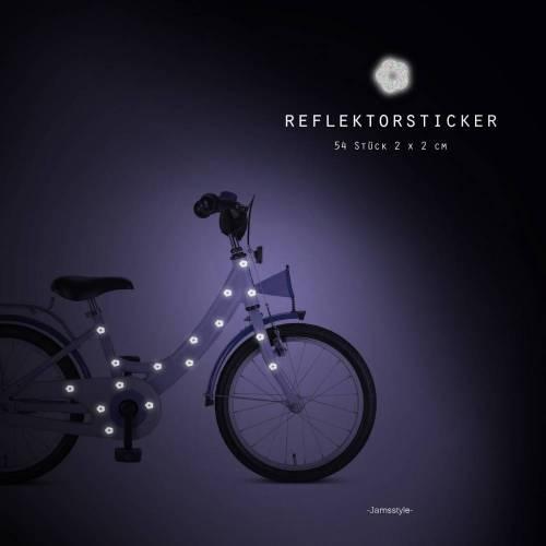 """Reflektor Fahrradtattoos Blumen"""" flower,  reflektierende Fahrradaufkleber, wasserfest"""