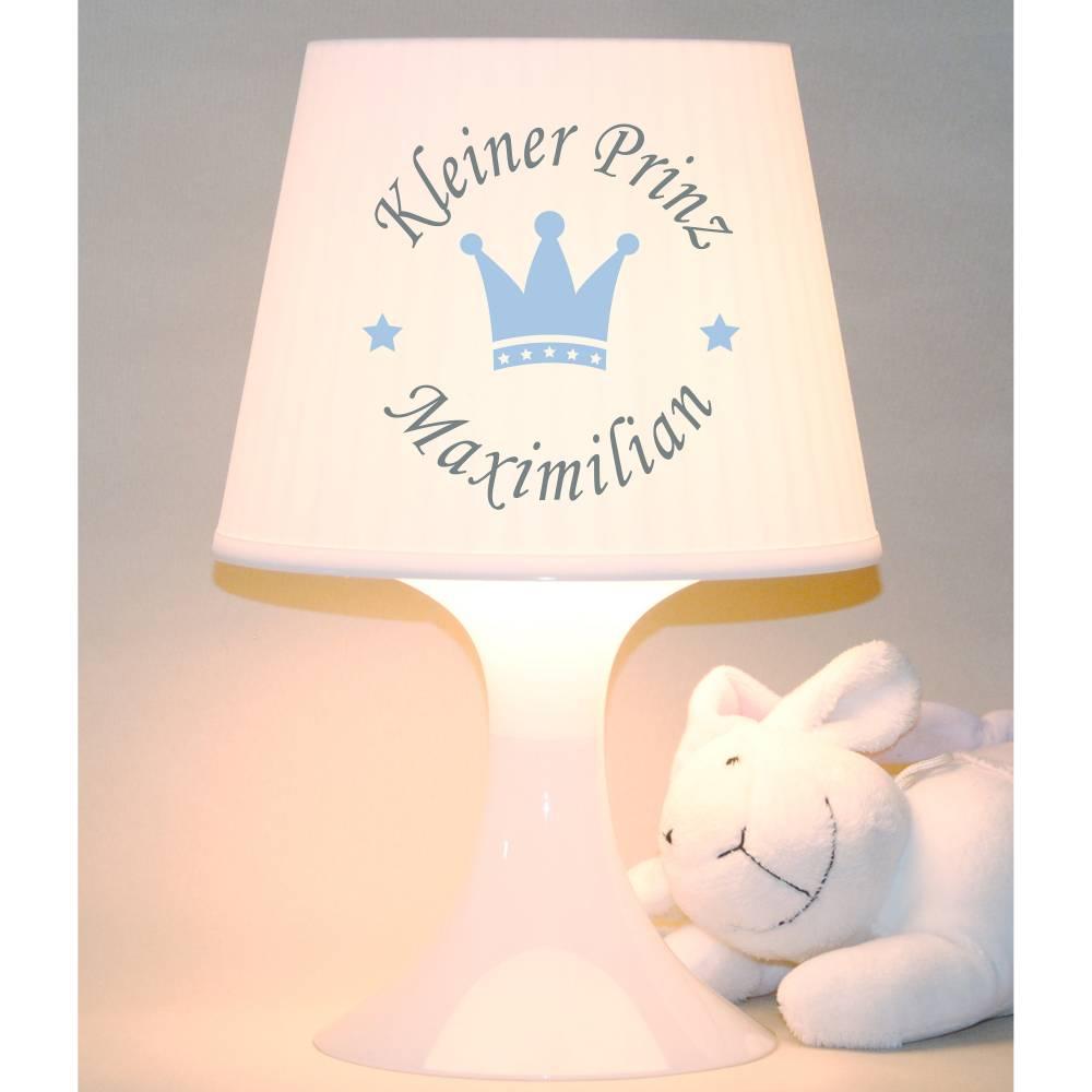 """Kinderlampe, Schlummerlampe """"Krone mit Namen"""" Kleiner Prinz, Tischleuchte Bild 1"""