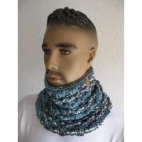 Schlupfschal Schlauchschal für Männer im Farbverlauf Blau Bild 1