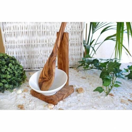 Kochlöffelhalter inkl. Kochlöffel 30 cm aus Olivenholz