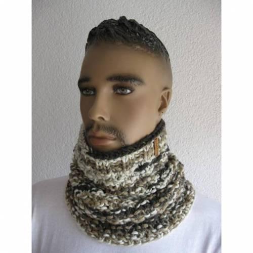 Schlupfschal Schlauchschal für Männer im Farbverlauf Braun